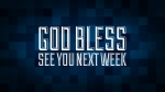 Christmas Pixels - Blue: God Bless - See You Next Week