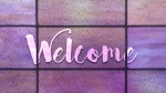 Stained Glass Panels: Welcome